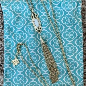 Kendra Scott white pendant tassel necklace